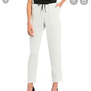 Karl Lagerfeld  Elastic Waist Striped Straight P